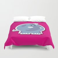 quibe Duvet Covers featuring Angry Elefant by quibe