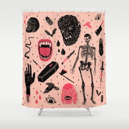 Whole Lotta Horror Shower Curtain
