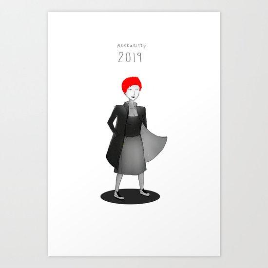 Meekakitty 2019 Art Print