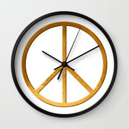 PEACE Symbol – 60th Birthday 21 Feb. 2018 Wall Clock