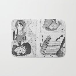 Anne of Green Gables Black & White Bath Mat