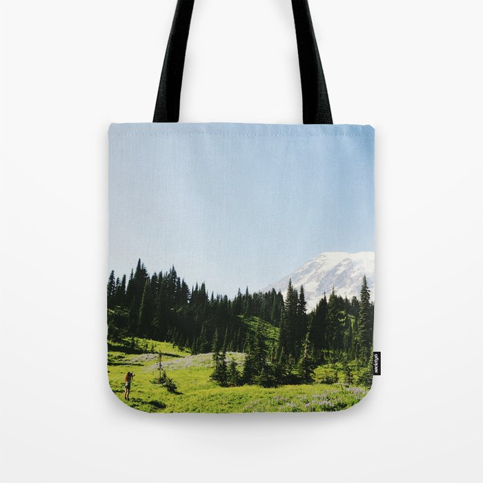 Mt Rainier Shooter Tote Bag