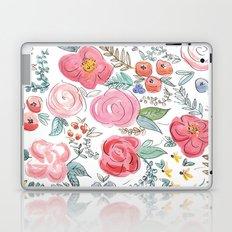 Watercolor Floral Print Laptop & iPad Skin
