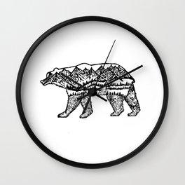 Bear Necessities Wall Clock