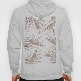 Rose Gold Palm Leaves 1 Hoody