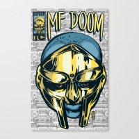 mf doom Canvas Prints featuring MF Doom Comic by Thomcat23