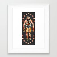 spaceman Framed Art Prints featuring Spaceman by AnnaW