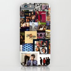Classic Rock And Roll Albums Collage iPhone 6s Slim Case