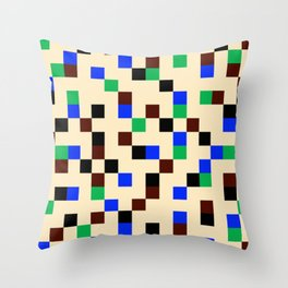 Square Grid II Throw Pillow