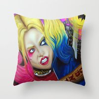 harley Throw Pillows featuring Harley by Kim Shady
