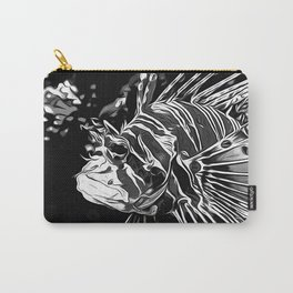lionfish vector art black white Carry-All Pouch