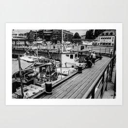 Oslo Wharf Art Print