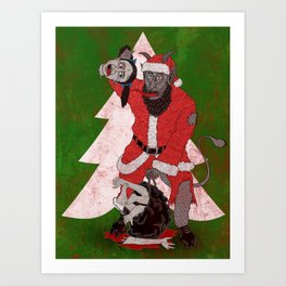 Merry Krampus aka Dismembered in December Art Print