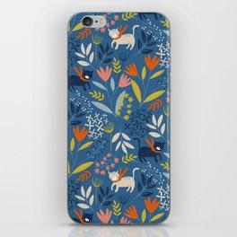 Cats & Flora iPhone Skin