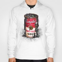 vegetable Hoodies featuring Cream of Vegetable by Daryll Peirce