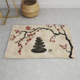 Zen stones Sakura Tree Rug