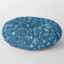 Cephalopods - Bioluminescence Floor Pillow