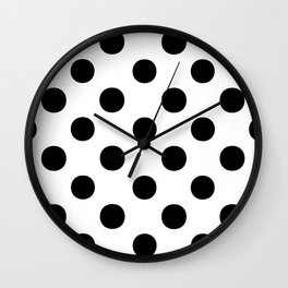 Polka Dots (Black/White) Wall Clock