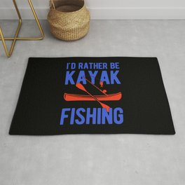 Funny Kayak Fishing Rug
