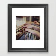 Flipping Through Framed Art Print