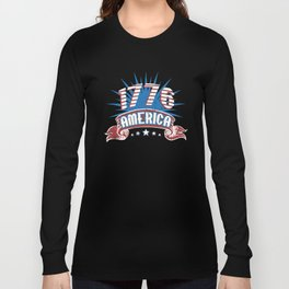 Fourth of July USA Love America 1776 4th of July Long Sleeve T-shirt
