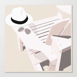 Monotoned beachday Canvas Print
