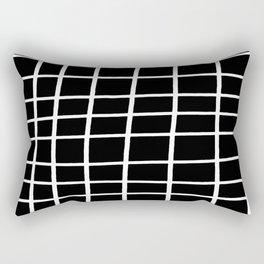 Hand Grid Large Black Rectangular Pillow
