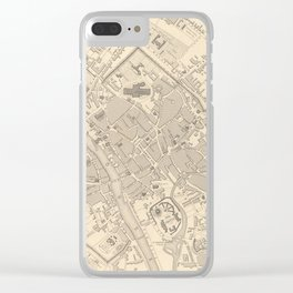 Vintage Map of York England (1851) Clear iPhone Case