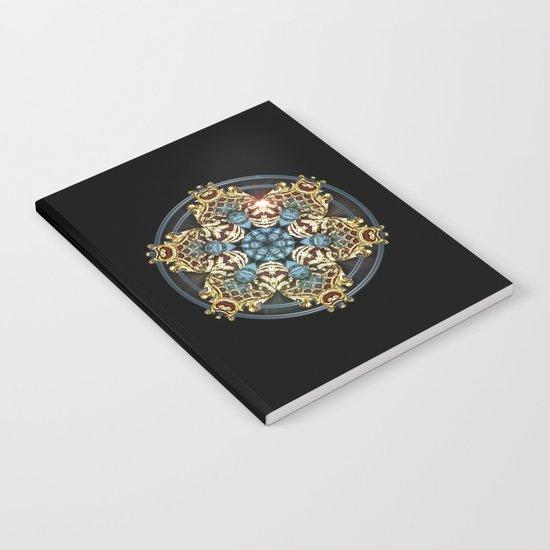 Decorative Golden Tin Notebook