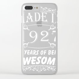 Special Gift For 90th Birthday - Made in 1927 Awesome Birthday Gift Clear iPhone Case