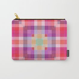 Bright Pink Geometric Carry-All Pouch