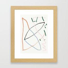 sunday's line character Framed Art Print