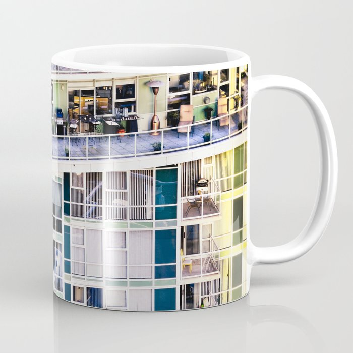 Voyeuristic 0307 Vancouver Cityscape Luxury Symmetry Coffee Mug