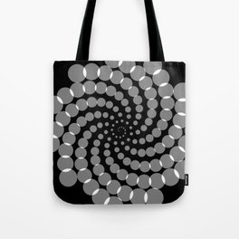spiral in gray and black Tote Bag