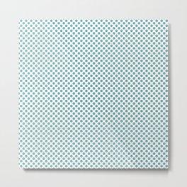 Aqua Sea Polka Dots Metal Print