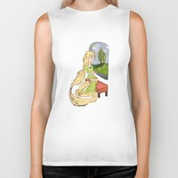 rapunzel Biker Tanks featuring Rapunzel by Little Moon Dance