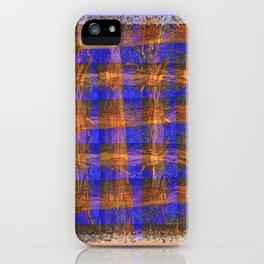 MADRONA TREE PLAID PATTERN iPhone Case