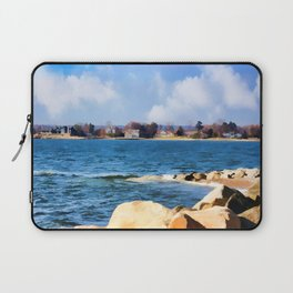 New England Shoreline - Painterly Laptop Sleeve