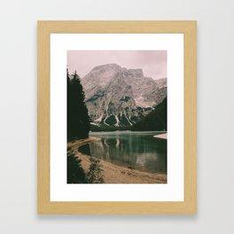 Braies Lake #1 Framed Art Print