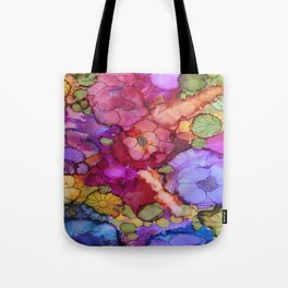 L and L Flower Explosion Tote Bag