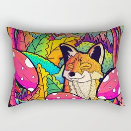 The little happy fox Rectangular Pillow
