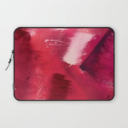 Between Heartbeats [3]: a vibrant abstract piece in a variety of reds by Alyssa Hamilton Art Laptop Sleeve