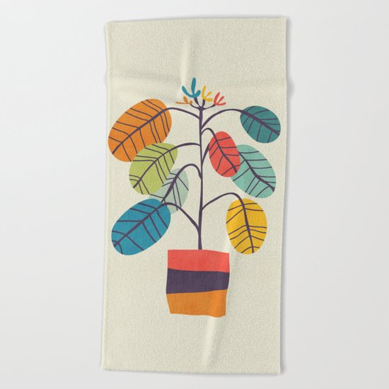 Potted plant 2 Beach Towel