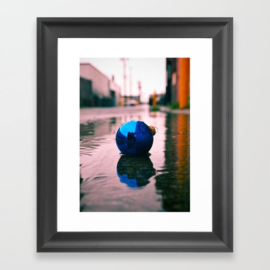 Urban Yuletide reflection Framed Art Print