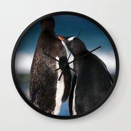 A touching moment Wall Clock