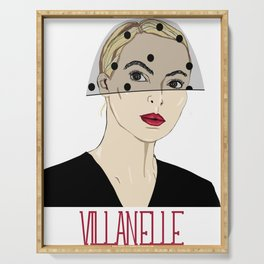 Villanelle, Killing Eve in black veil Serving Tray
