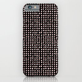 Dots (Shadowed) - White x Coral iPhone Case