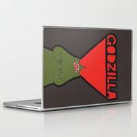 godzilla Laptop & iPad Skins featuring Godzilla by evannave