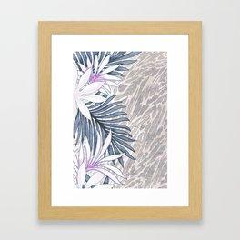 Denim Blooms Forever Framed Art Print