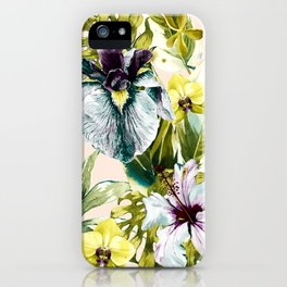 Flowering tropical jungle pattern iPhone Case